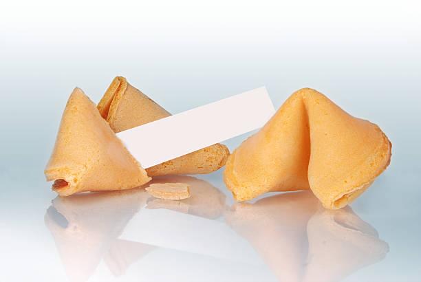 Fortune Cookie and Blank Paper Strip stok fotoğrafı