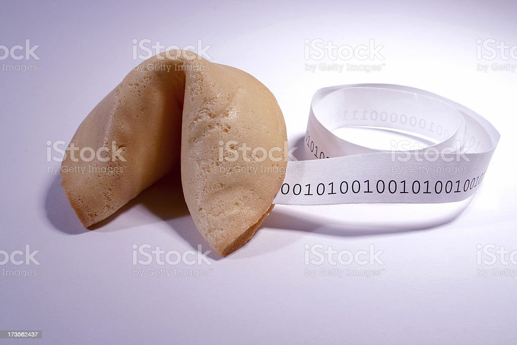 Fortune Cookie: Binary stock photo