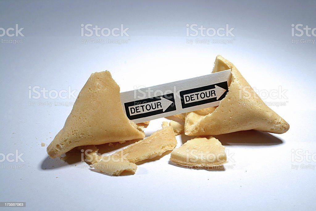 Fortune Cookie: Detour stock photo