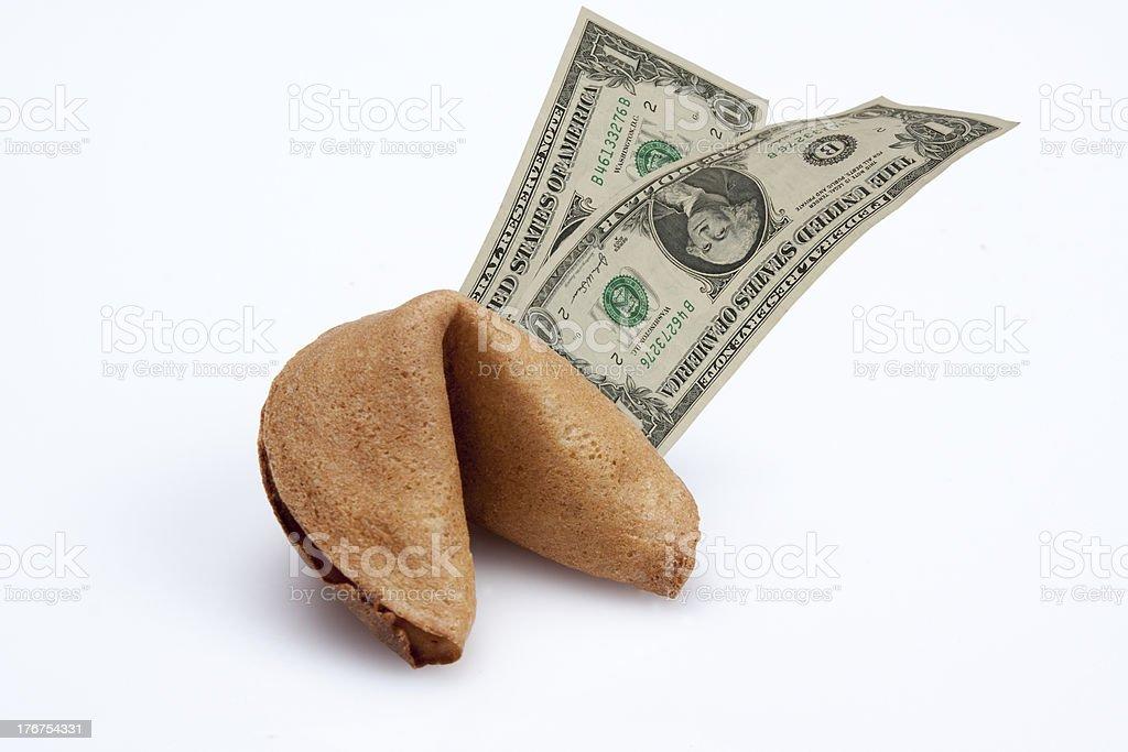 Fortune Cookie: Dollar Signs stock photo