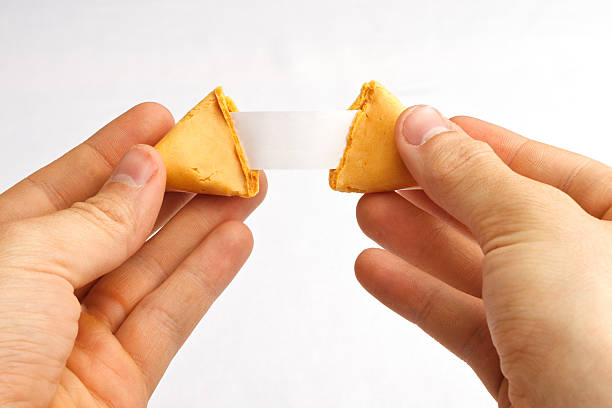 Fortune Cookie Hands Pull stock photo