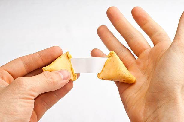 Fortune Cookie Hands Shock stock photo