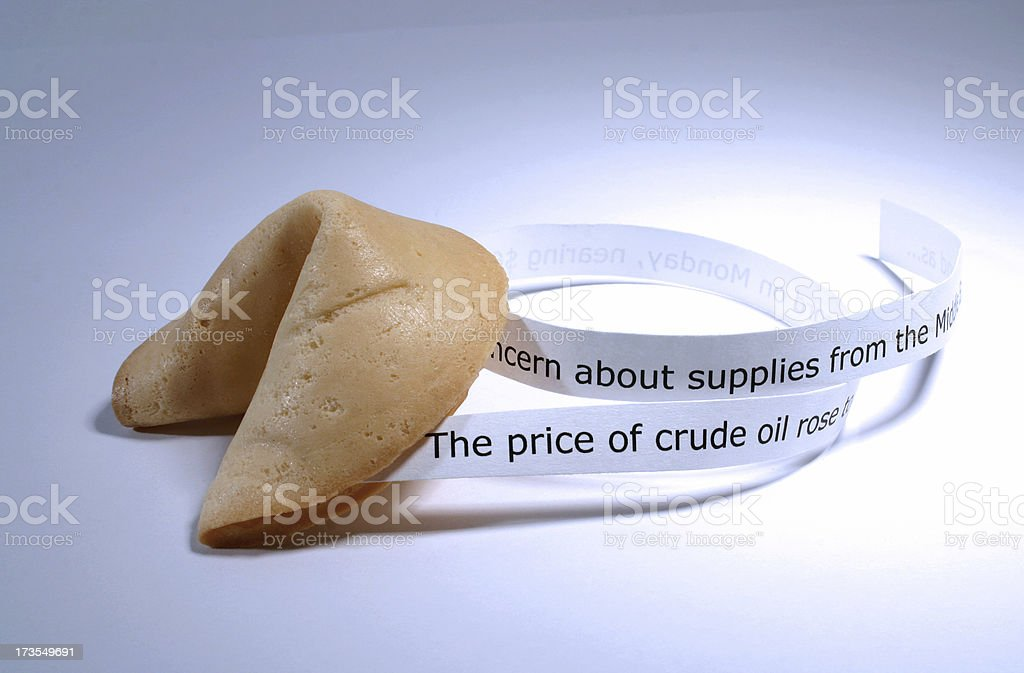 Fortune Cookie: News Feed stock photo