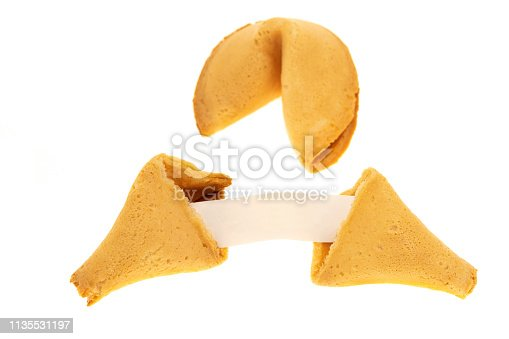 Fortune cookies - white background