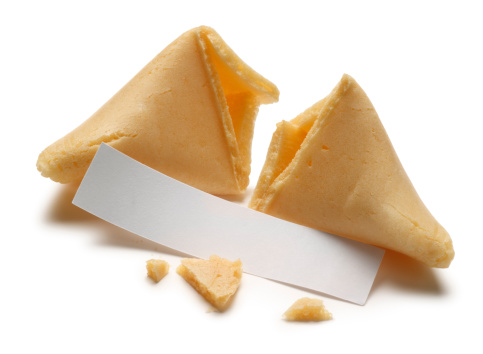 A blank fortune from an opened fortune cookie.Please see some similar pictures from my portfolio: