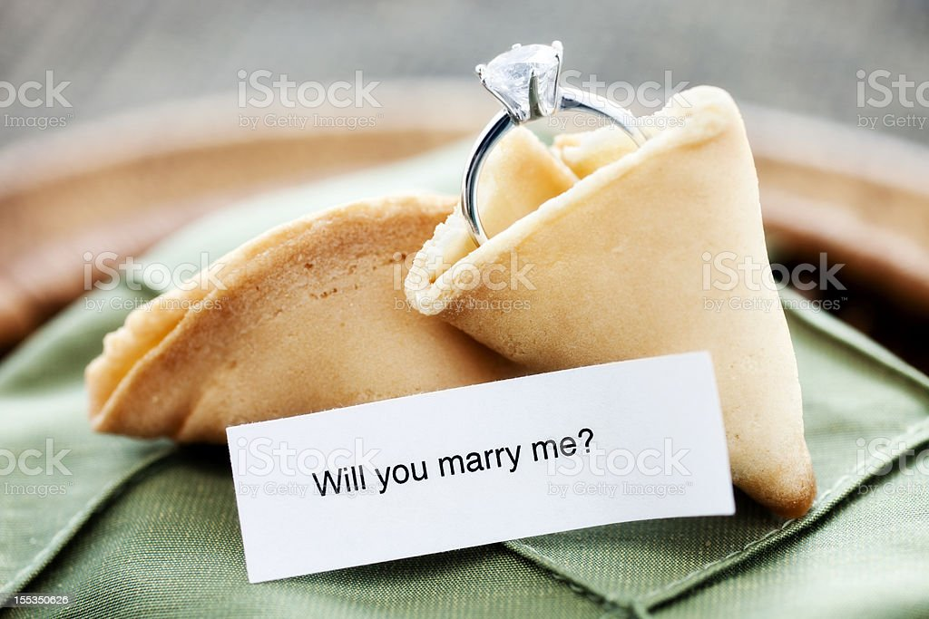 Fortune Cookie Proposal royalty-free stock photo