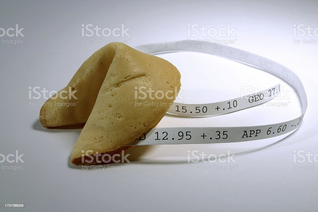 Fortune Cookie: Stocks stock photo