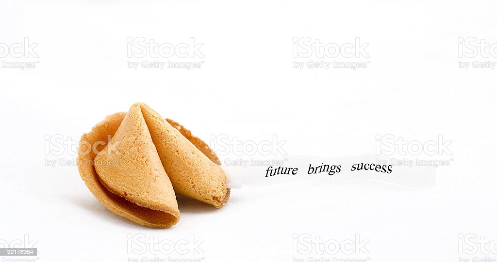 fortune cookie with text royalty-free stock photo
