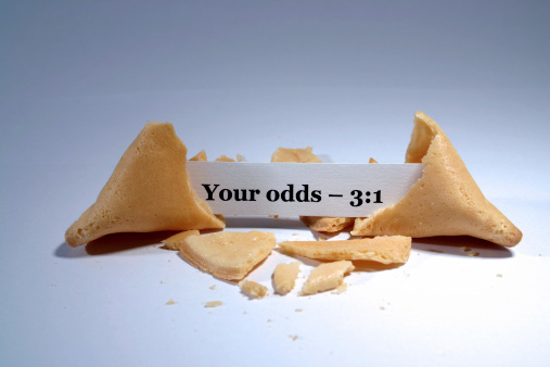 Fortune cookie with betting odds