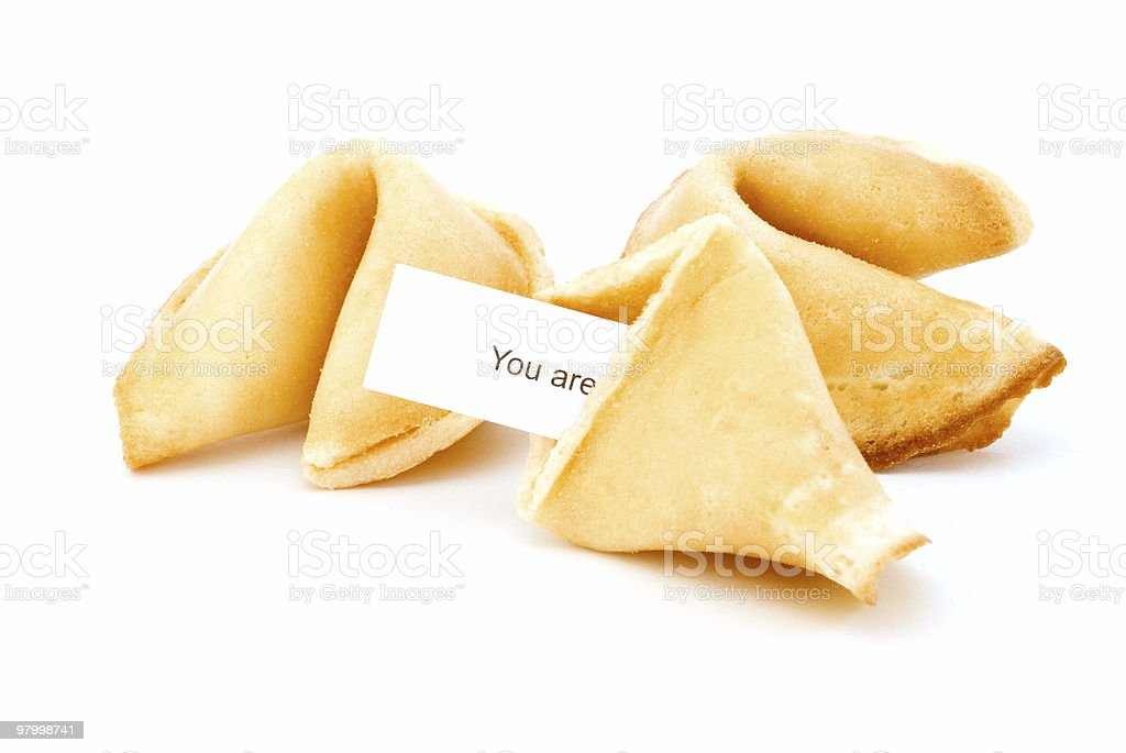 Fortune cookies on white royalty-free stock photo