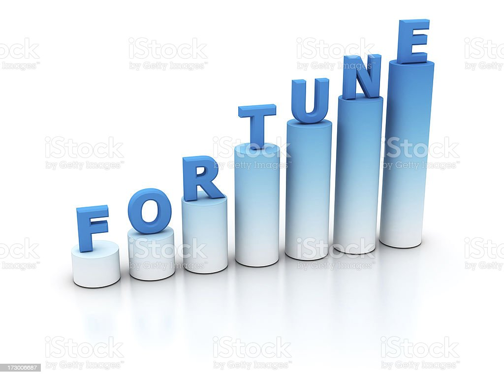 fortune graph royalty-free stock photo