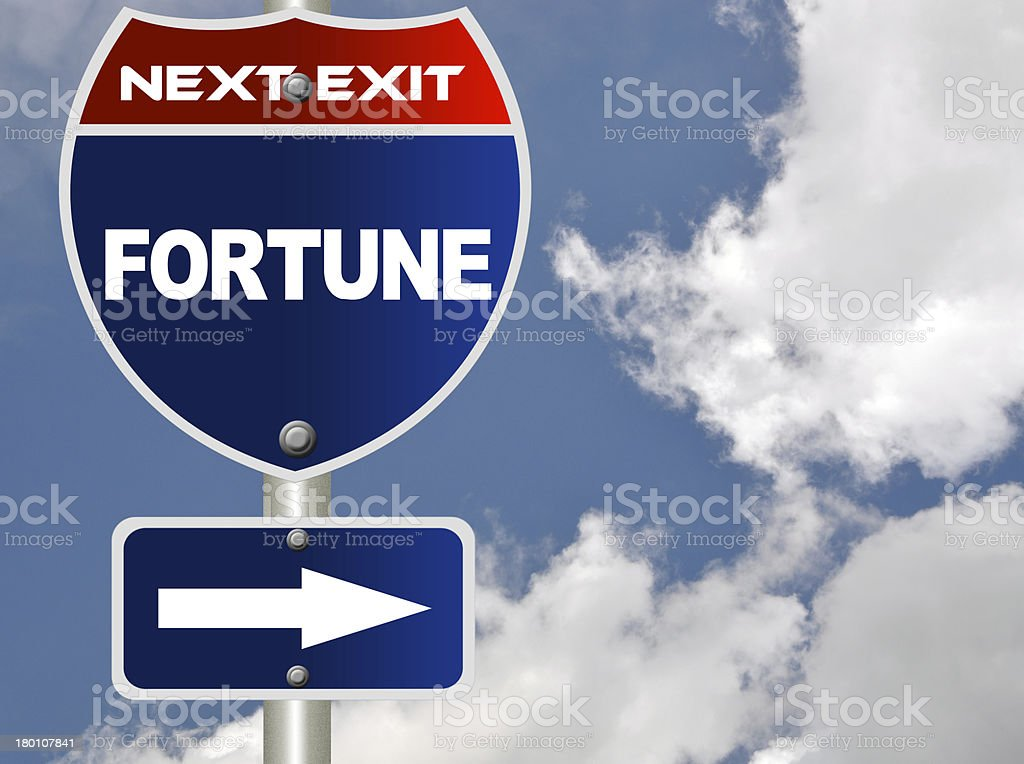 Fortune road sign royalty-free stock photo