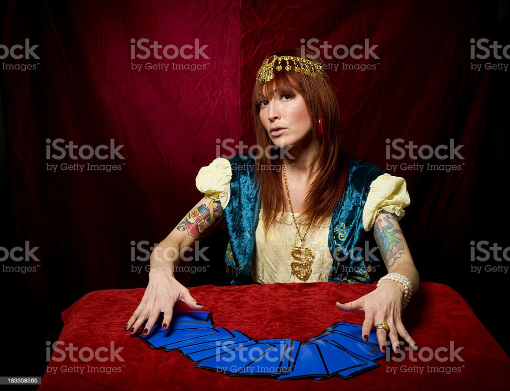 Fortune Teller & Tarot Cards royalty-free stock photo