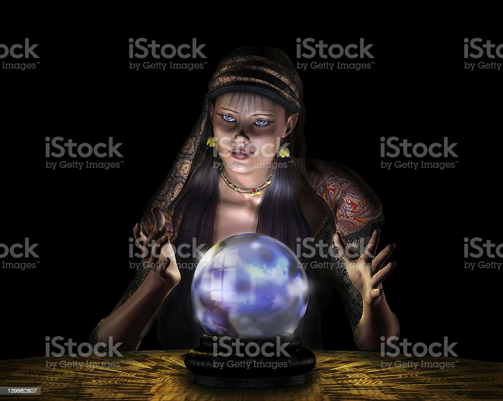 Fortune Teller - with clipping path royalty-free stock photo