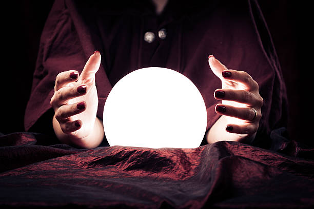 fortune teller's hands - paranormal stock photos and pictures