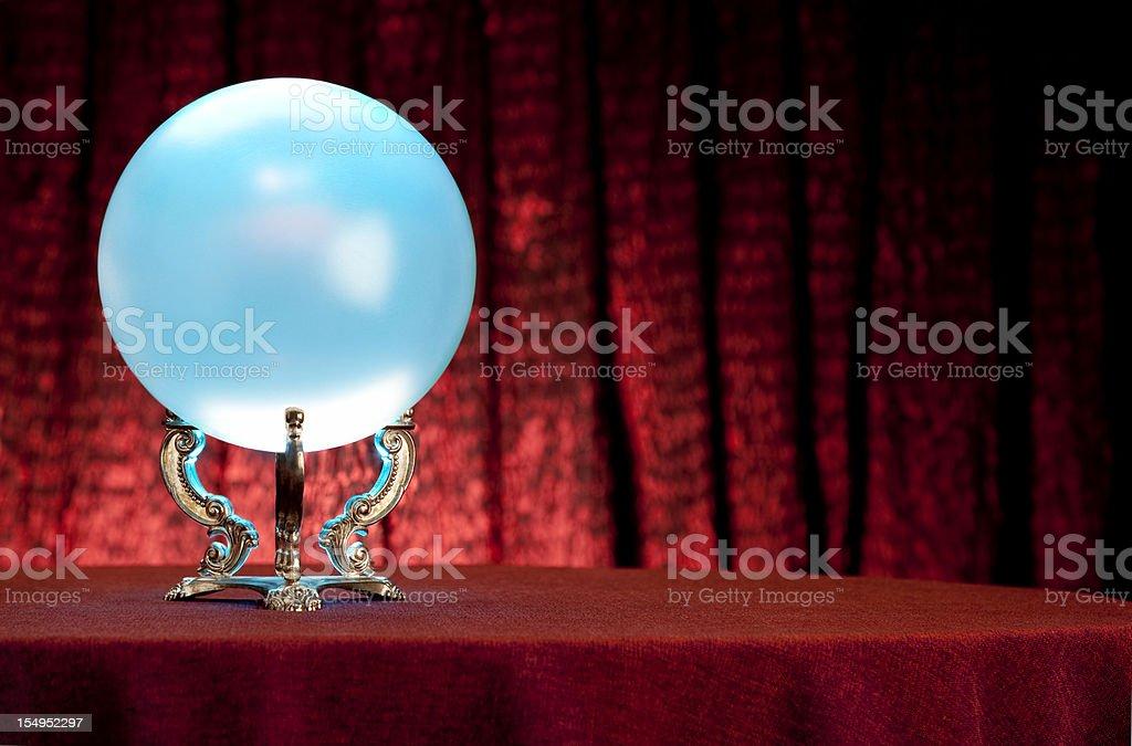 Fortune Teller's Mystical Crystal Ball. Full Frame. XXL royalty-free stock photo