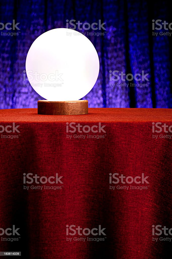 Fortune Teller's Mystical Crystal Ball. XXXL royalty-free stock photo