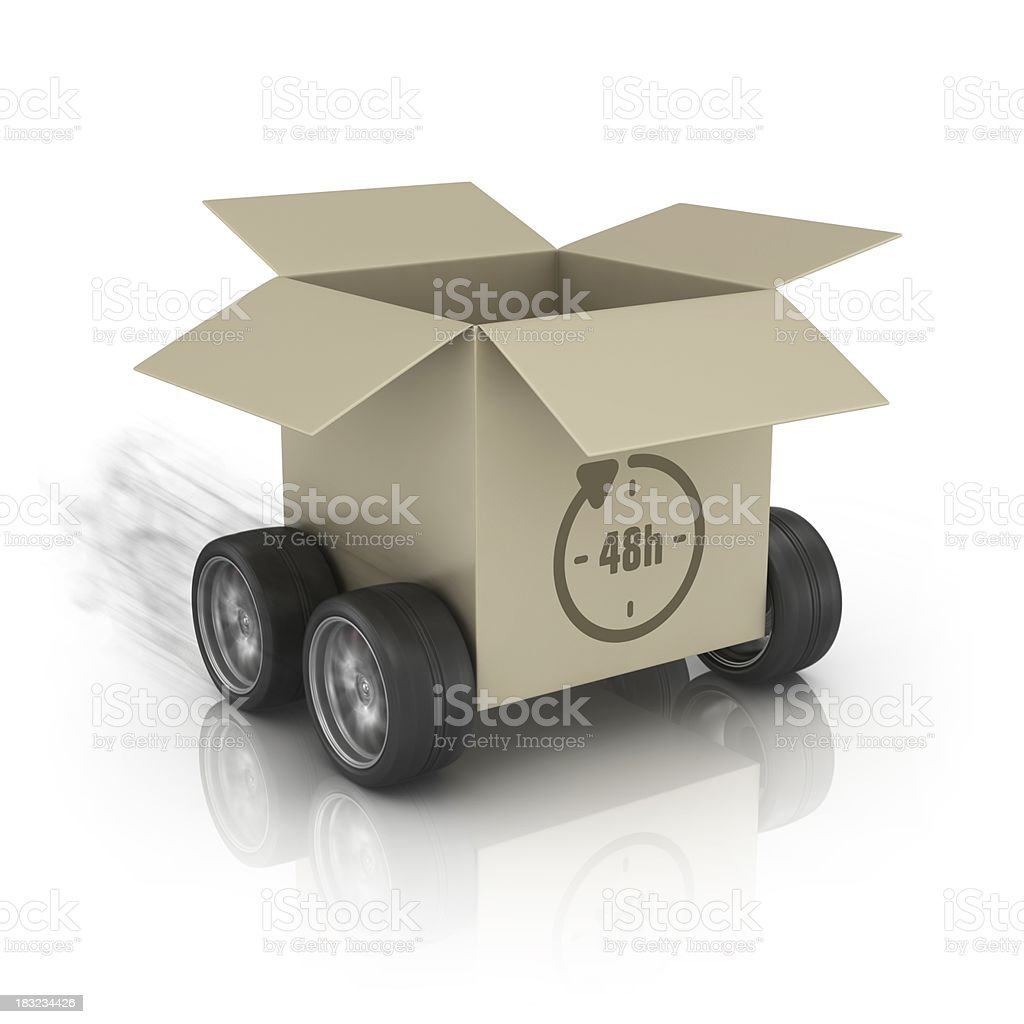 forty eight h delivery package royalty-free stock photo