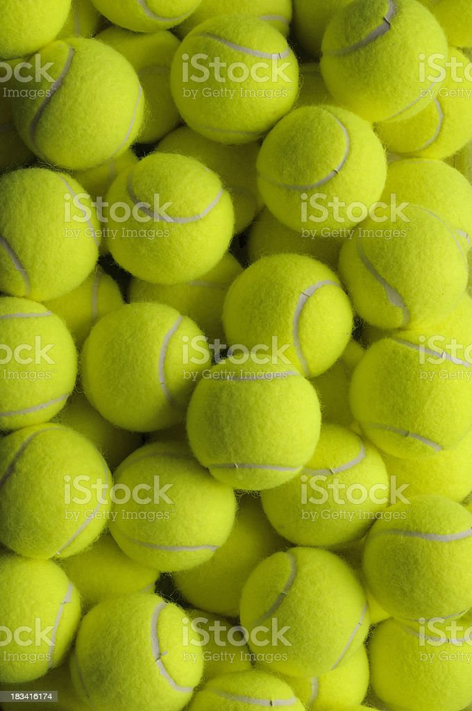Forty Four Tennis Balls royalty-free stock photo