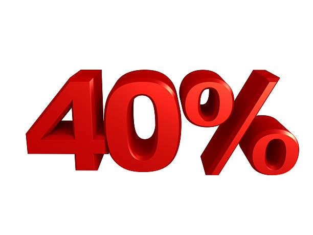 Quarante pour cent de l'icône - Photo