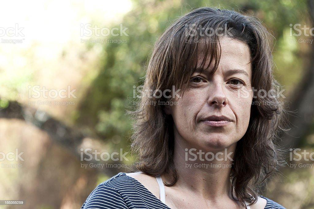 forty something hispanic  woman royalty-free stock photo