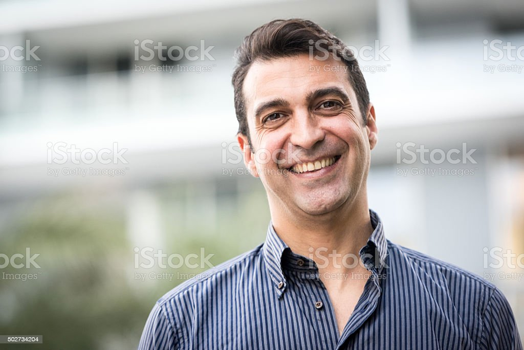Forty something man stock photo