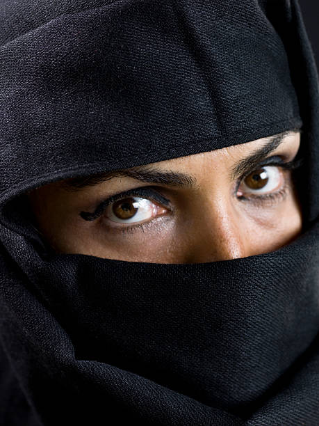 Forty something Muslim woman (no make up) stock photo