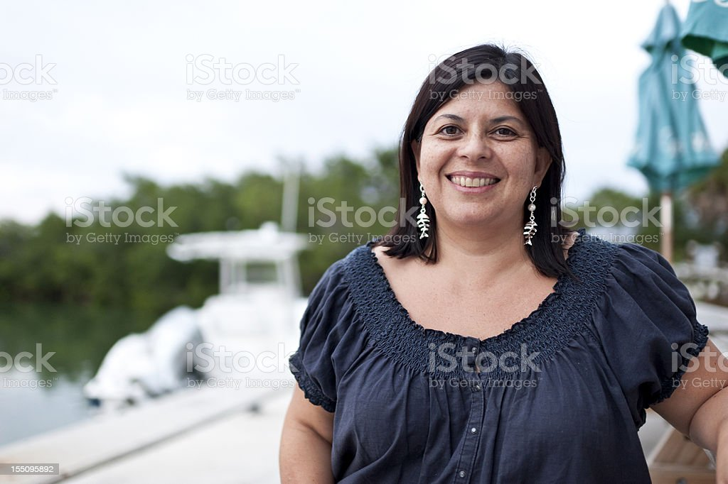 Forty-something Hispanic Woman stock photo