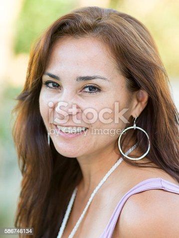 825083310 istock photo Forty-something Hispanic Woman 586746134