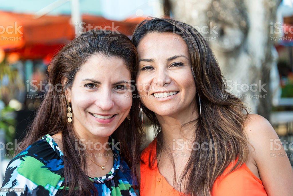 Forty-something Hispanic Women royalty-free stock photo