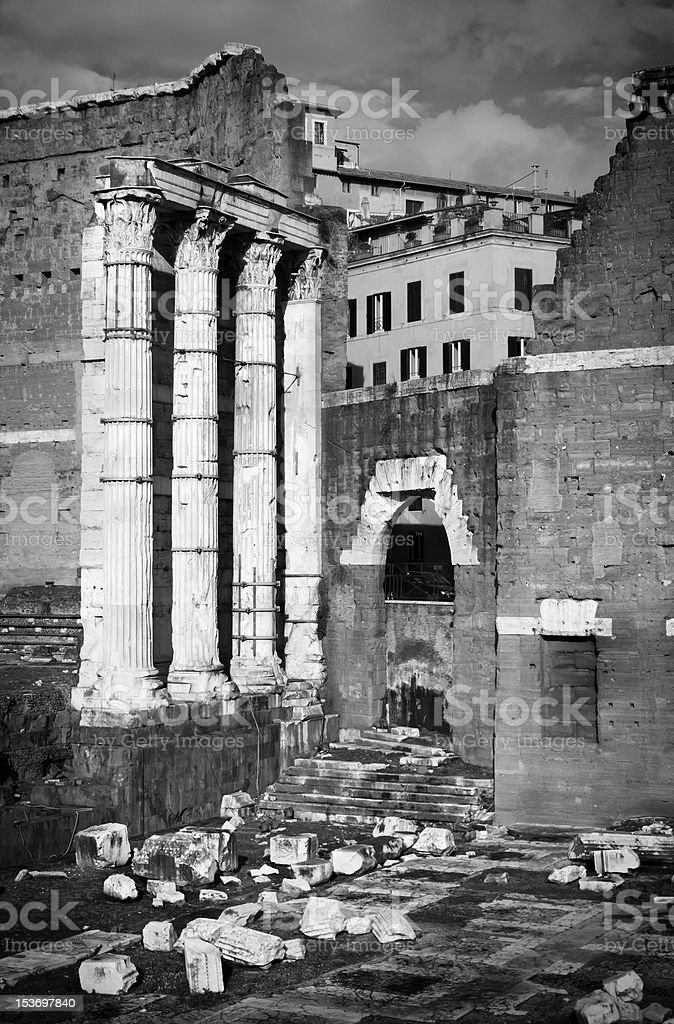 Forum Augustus with the Temple of Mars Ultor stock photo