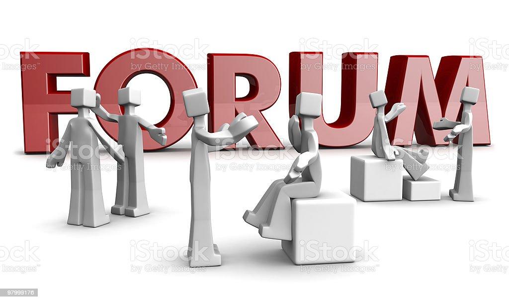 Forum community concept royalty-free stock photo