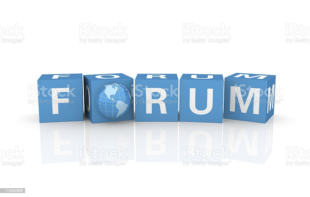 Forum Concept royalty-free stock photo
