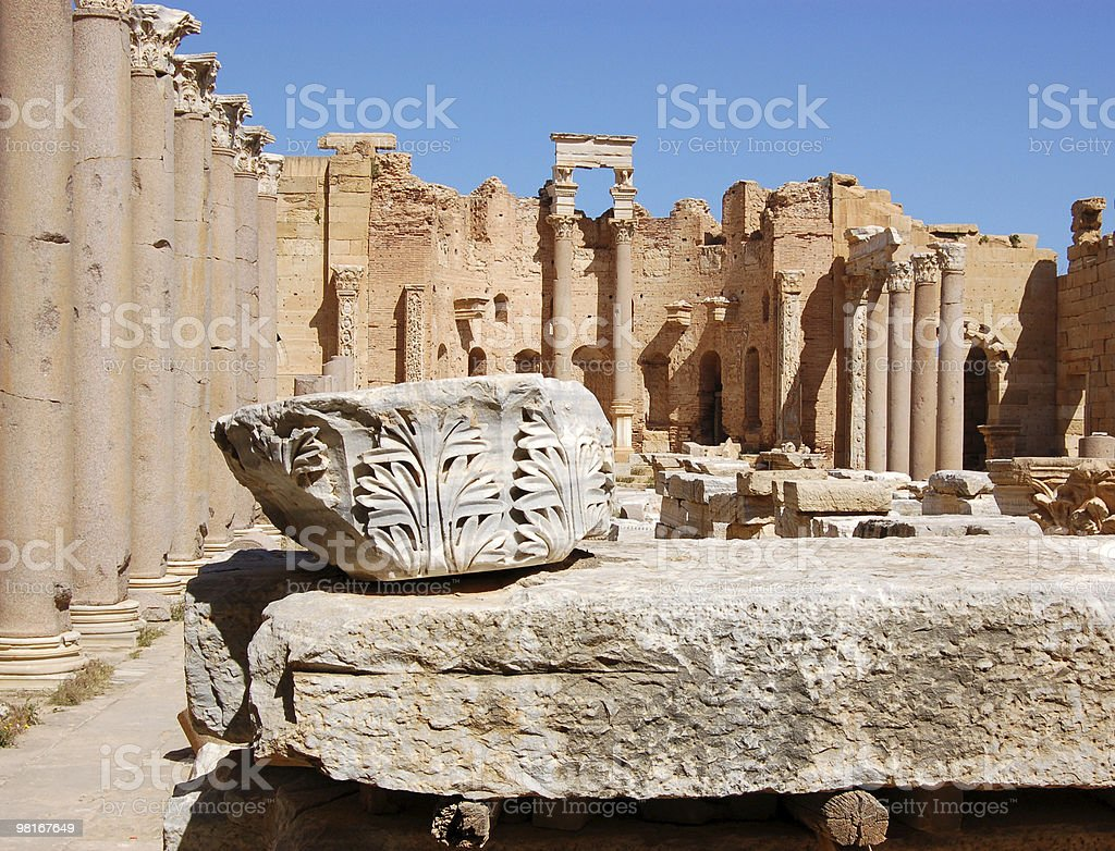 Forum, Leptis Magna royalty-free stock photo