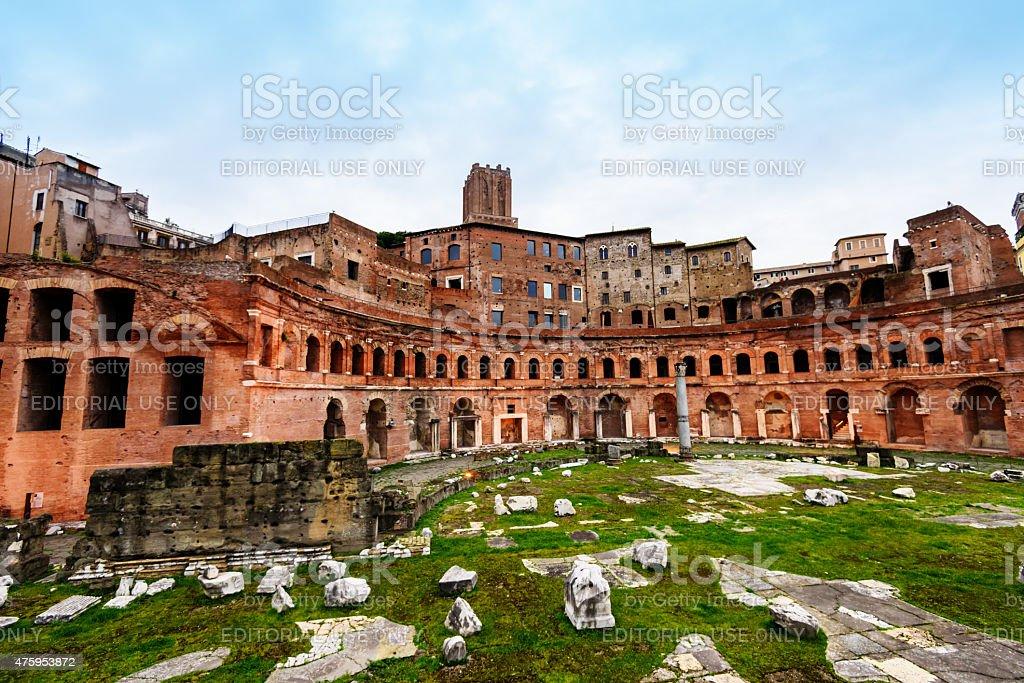 Forum of Augustus in Italy stock photo