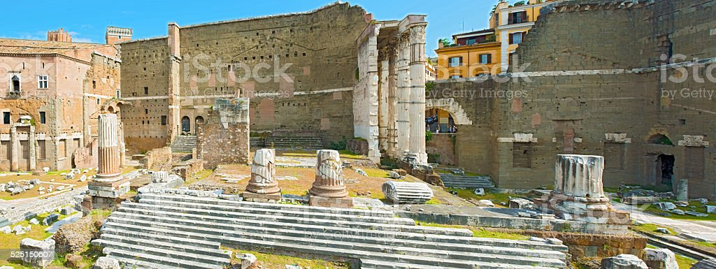 Forum of Augustus in Rome, Italy. stock photo