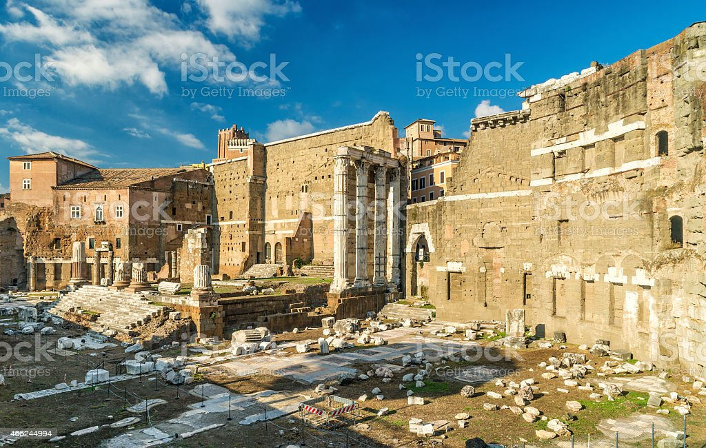 Forum of Augustus in Rome stock photo