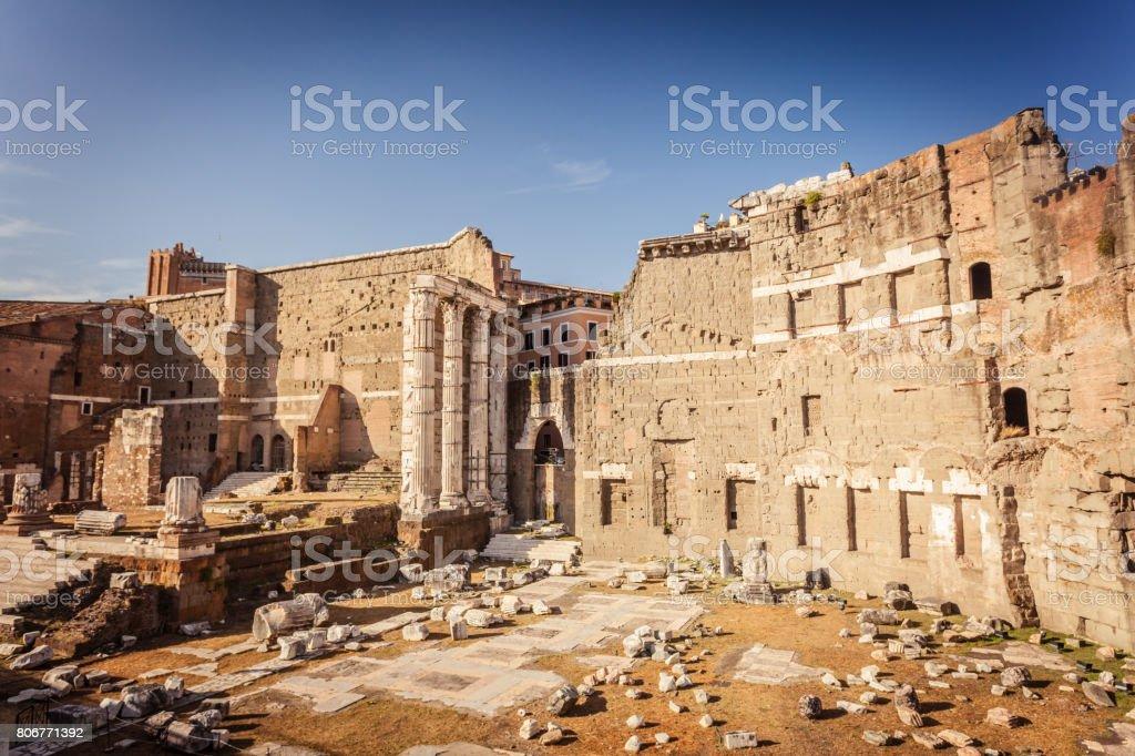 Forum of Augustus in Rome stock photo