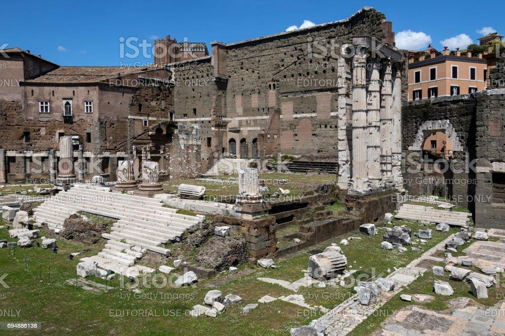 Forum of Augustus - Rome - Italy stock photo