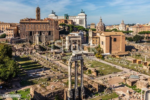 Forum of Caesar in Rome, Italy. Architecture and landmark of Rome. Antique Rome (no visible people)