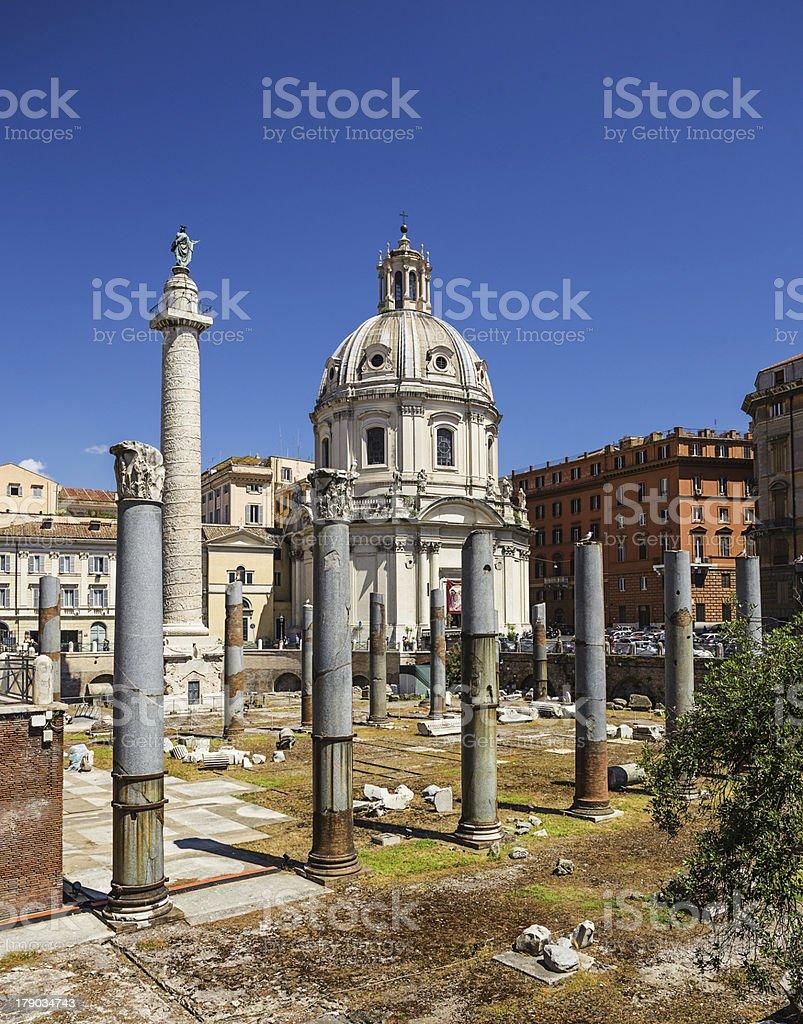 forum of Trajan in Rome, Italy royalty-free stock photo