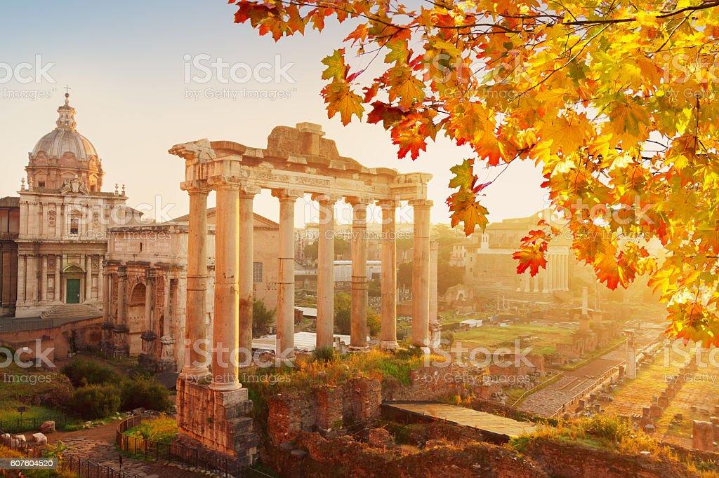 Forum - Roman ruins in Rome, Italy stock photo
