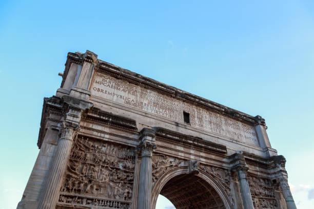 Forum Romanum Evening stock photo