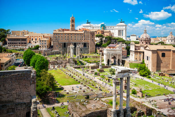 Forum Romanum, Rzym Forum Romanum, Rzym roman forum stock pictures, royalty-free photos & images