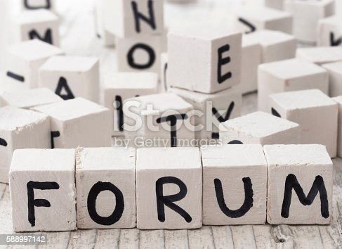 istock Forum word made of wooden letters 588997142