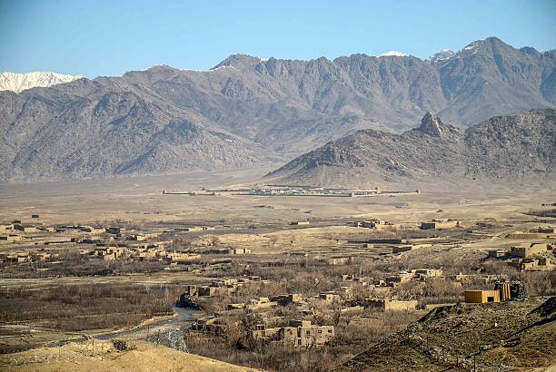 base avancé, Otan, Afghanistan, paysage, habitation base de gwan en afghanistan Afghanistan stock pictures, royalty-free photos & images