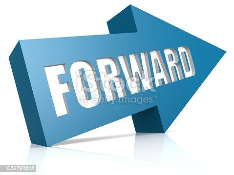 1014851396 istock photo Forward blue arrow 1056792828