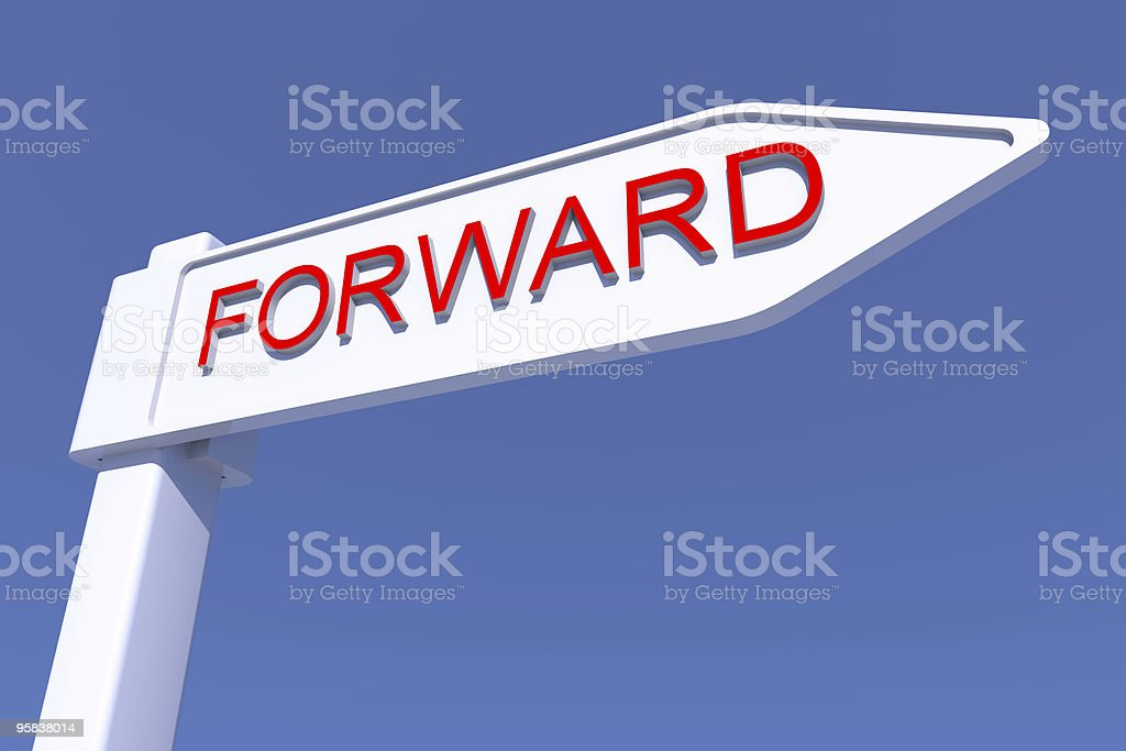 Forward directionsign CGI, XXL stock photo