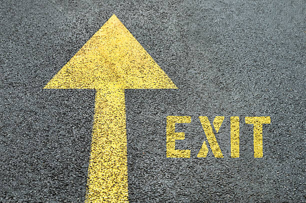 Best Exit Sign Stock Photos, Pictures & Royalty-Free Images - iStock
