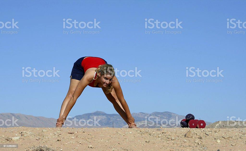 Forward Stretch (Utah RedRockalypse) royalty-free stock photo